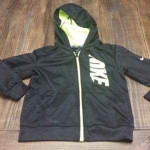 Nike Dri-Fit Black Zip Up Hoodie Size Large